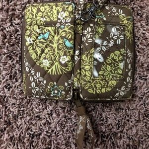 Retired Vera Bradley Zip Around Wallet/Phone Case